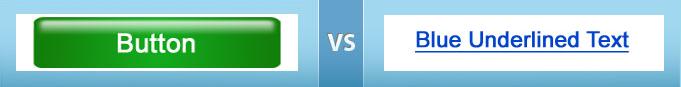 Button-Design oder blau unterlegter Linktext